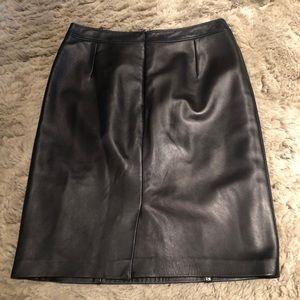 Escada Lambskin butter leather pencil Skirt sz 38